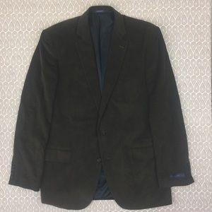 Stafford Mens Brown Corduroy Sports Coat 46L Y34